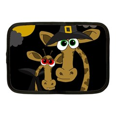 Giraffe Halloween Party Netbook Case (medium)  by Valentinaart
