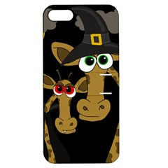 Giraffe Halloween Party Apple Iphone 5 Hardshell Case With Stand by Valentinaart