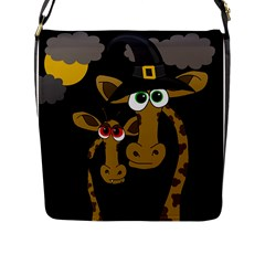 Giraffe Halloween Party Flap Messenger Bag (l)  by Valentinaart