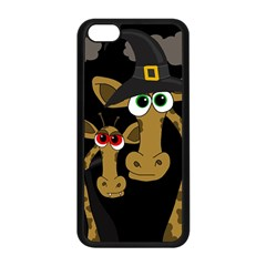 Giraffe Halloween Party Apple Iphone 5c Seamless Case (black) by Valentinaart