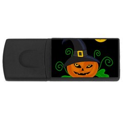 Halloween Witch Pumpkin Usb Flash Drive Rectangular (4 Gb)  by Valentinaart