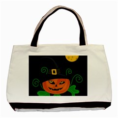 Halloween Witch Pumpkin Basic Tote Bag (two Sides) by Valentinaart