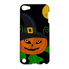 Halloween Witch Pumpkin Apple Ipod Touch 5 Hardshell Case by Valentinaart