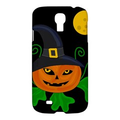 Halloween Witch Pumpkin Samsung Galaxy S4 I9500/i9505 Hardshell Case by Valentinaart