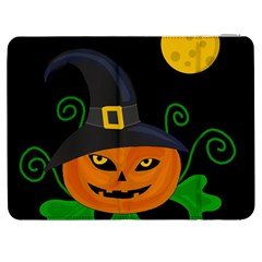 Halloween Witch Pumpkin Samsung Galaxy Tab 7  P1000 Flip Case by Valentinaart