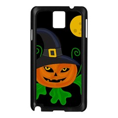 Halloween Witch Pumpkin Samsung Galaxy Note 3 N9005 Case (black) by Valentinaart
