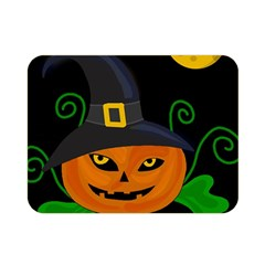 Halloween Witch Pumpkin Double Sided Flano Blanket (mini)  by Valentinaart