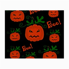 Halloween Pumpkin Pattern Small Glasses Cloth (2 Side) by Valentinaart