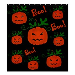Halloween Pumpkin Pattern Shower Curtain 66  X 72  (large)  by Valentinaart