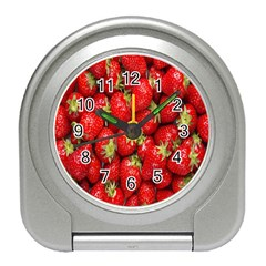 Red Fruits Travel Alarm Clocks by AnjaniArt