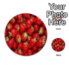 Red Fruits Multi Purpose Cards (round)  by AnjaniArt