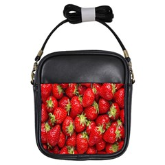 Red Fruits Girls Sling Bags by AnjaniArt