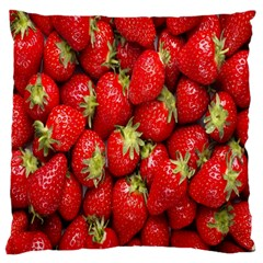 Red Fruits Large Flano Cushion Case (two Sides)