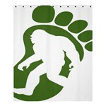Sasquatch Shower Curtain 60  x 72  (Medium)  54.25 x65.71 Curtain