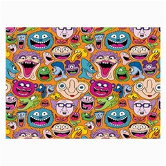 Smiley Pattern Collage Prints by AnjaniArt