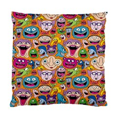 Smiley Pattern Standard Cushion Case (two Sides) by AnjaniArt