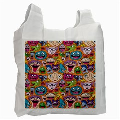 Smiley Pattern Recycle Bag (two Side)