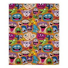 Smiley Pattern Shower Curtain 60  X 72  (medium)  by AnjaniArt