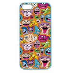 Smiley Pattern Apple Seamless Iphone 5 Case (color)