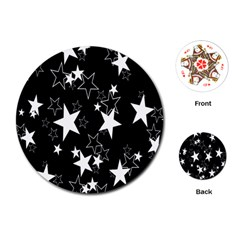 Star Black White Playing Cards (round)