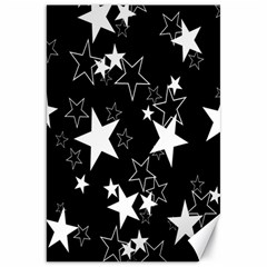 Star Black White Canvas 20  X 30   by AnjaniArt