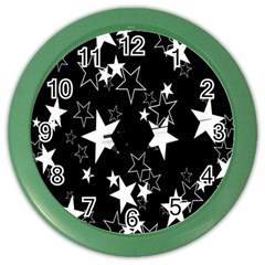 Star Black White Color Wall Clocks by AnjaniArt