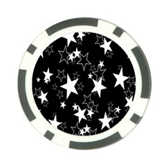 Star Black White Poker Chip Card Guards by AnjaniArt