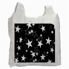Star Black White Recycle Bag (two Side)  by AnjaniArt