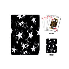 Star Black White Playing Cards (mini)