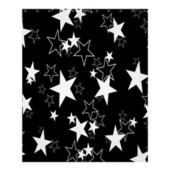 Star Black White Shower Curtain 60  X 72  (medium)  by AnjaniArt