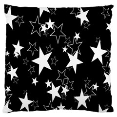 Star Black White Large Cushion Case (two Sides)