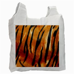 Tiger Recycle Bag (one Side) by AnjaniArt