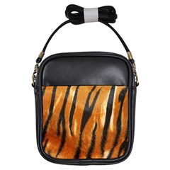 Tiger Girls Sling Bags by AnjaniArt