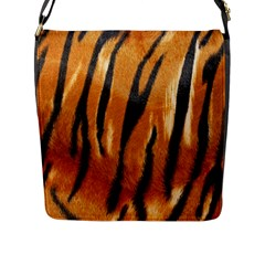 Tiger Flap Messenger Bag (l)  by AnjaniArt