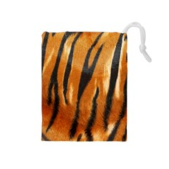 Tiger Drawstring Pouches (medium)  by AnjaniArt