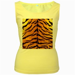Tiger Skin Women s Yellow Tank Top by AnjaniArt