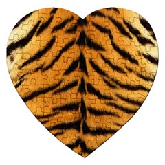 Tiger Skin Jigsaw Puzzle (heart)