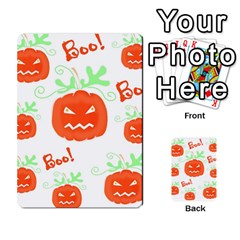 Halloween Pumpkins Pattern Multi Purpose Cards (rectangle)  by Valentinaart