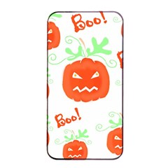 Halloween Pumpkins Pattern Apple Iphone 4/4s Seamless Case (black) by Valentinaart