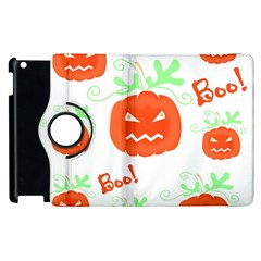 Halloween Pumpkins Pattern Apple Ipad 2 Flip 360 Case by Valentinaart
