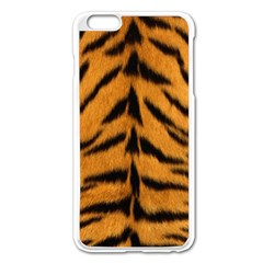Tiger Skin Apple Iphone 6 Plus/6s Plus Enamel White Case by AnjaniArt