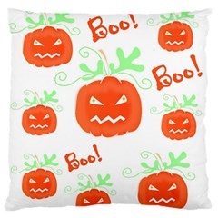 Halloween Pumpkins Pattern Large Flano Cushion Case (one Side) by Valentinaart
