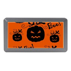 Halloween Black Pumpkins Pattern Memory Card Reader (mini) by Valentinaart