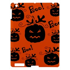 Halloween Black Pumpkins Pattern Apple Ipad 3/4 Hardshell Case by Valentinaart