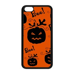 Halloween Black Pumpkins Pattern Apple Iphone 5c Seamless Case (black) by Valentinaart