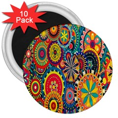 Tumblr Static Colorful 3  Magnets (10 Pack)