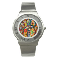 Tumblr Static Colorful Stainless Steel Watch