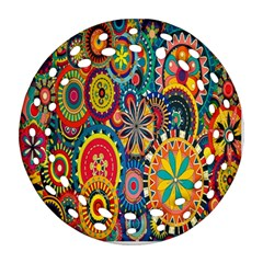 Tumblr Static Colorful Round Filigree Ornament (2side)