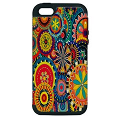 Tumblr Static Colorful Apple Iphone 5 Hardshell Case (pc+silicone)