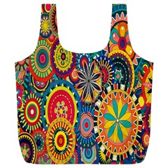 Tumblr Static Colorful Full Print Recycle Bags (l)